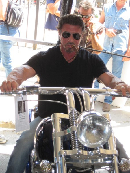 Sylvester Stallone chose 10 Bourget bikes.