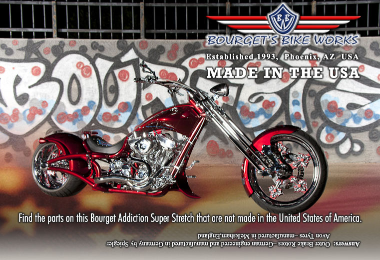 Every Bourget Motorcycle Produced In Phoenix Arizona Usa Is Quality Hand Crafted By Americans For Americans With 98 American Made Parts